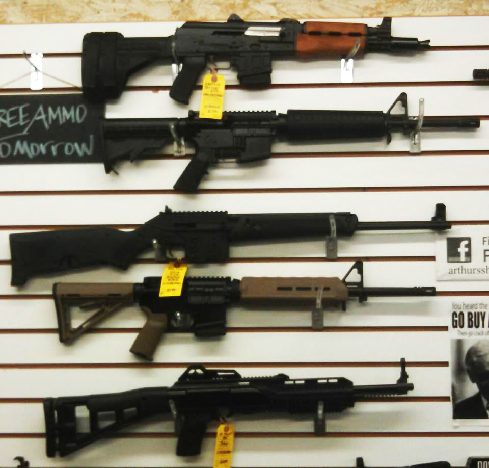 ZASTAVA PAP M85 5.56 pistol with stabilizing brace & muzzle brake $799. HBAR AR15 5.56 rifles $799 MAGPUL FDE $899. KELTEC SU16 5.56 folding rifle with built in bipod and magazine storage $599. HiPoint 9mm Carbine $299. Tons of new shotguns
