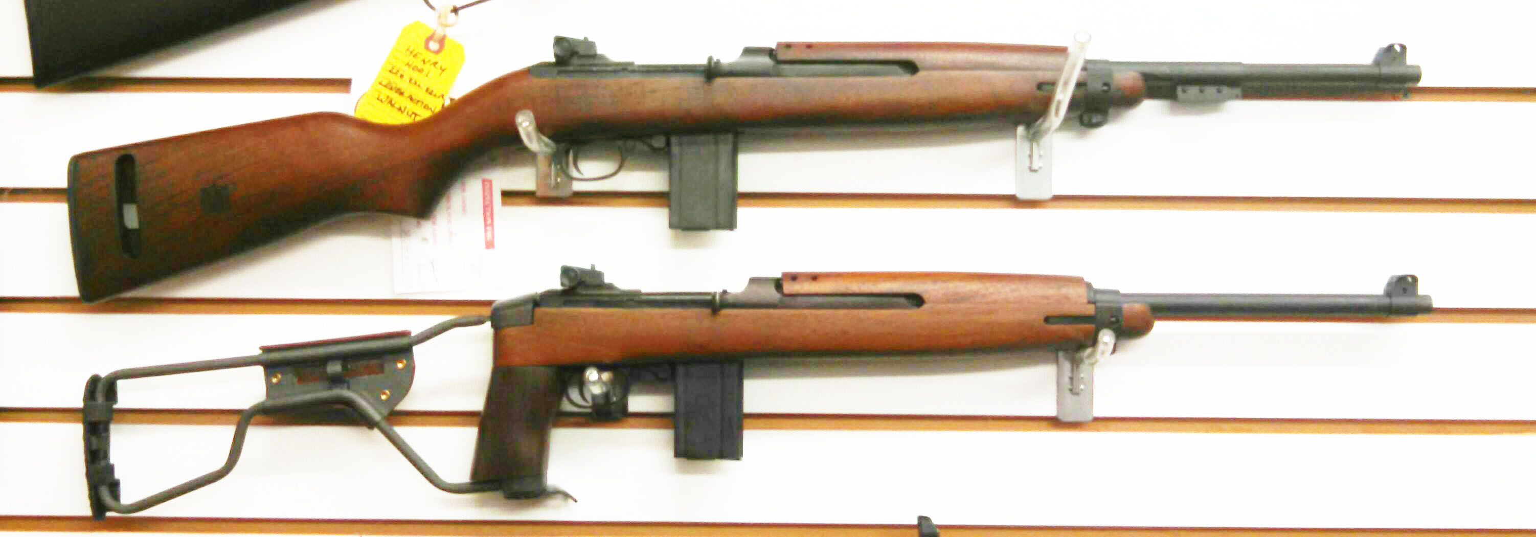 IN STOCK- INLAND M1 1945 carbines feature many of the same characteristics of the original Inland Carbines and are manufactured in the USA! The M1 carbine is modeled after the last production model that Inland manufactured in 1945 and features a type 3 bayonet lug / barrel band, adjustable rear sights, push button safety, round bolt,