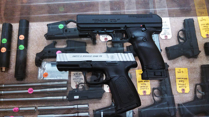 Just traded in - Smith & Wesson SD40VE .40 $299 and a Hi-point JHP .45acp pistol. $169.