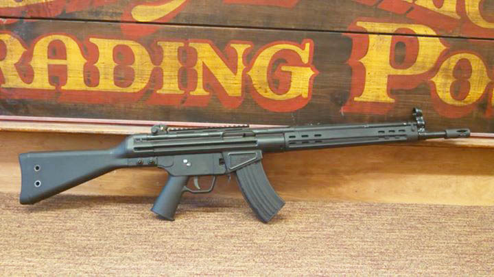 PTR 32 KFR 762 X 39 Semi auto rifle, Black Furniture & Finish , welded picatinny scope mount. Comes with 1 - 10 round mag and rifle hardcase.
